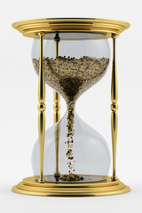 time is money.symbol of the transience of time.hourglass