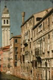 Urban scenic of Venice, Italy - Vintage poster