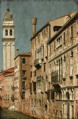 Urban scenic of Venice, Italy - Vintage