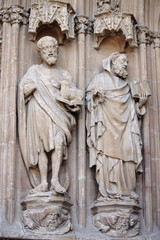 Basreliefs in Palma de Mallorca cathedral, Spain