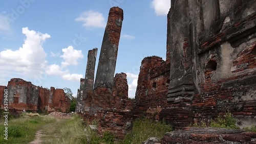 Ancient ruins in Ayutthaya, Thailand travel destination