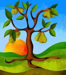 albero di pere