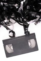 Damaged video tape