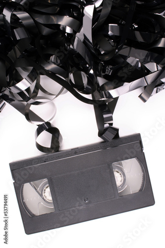 Damaged video tape
