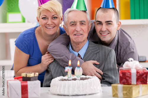 man celebrating his 70th birthday