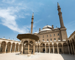 Mosque of Muhammad Ali (Alabaster Mosque) in Cairo, Egypt.