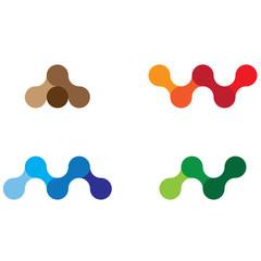 A M N W Harf Logo Çalışması
