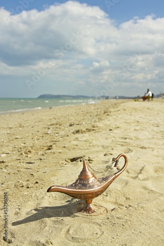 Magic lamp on the beach