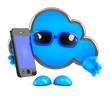 Cloud uses a smartphone