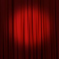 roter Vorhang mit Spot