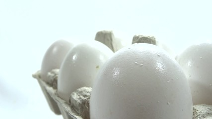 very close up eggs presentation