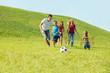 Active happy family