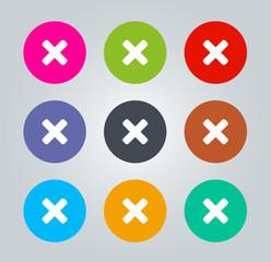 Delete - Metro clear circular Icons
