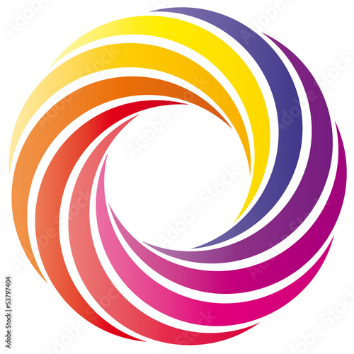 Farbkreis - Logo - gelb orange pink lila
