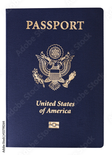 Isolated American Passport