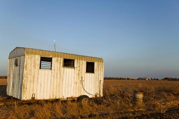 Trailer Wreck in Countryside Field