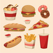 Fast food. Objects set