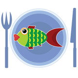 Fish on the plate