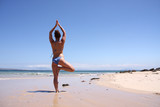 Beach Yoga Tree