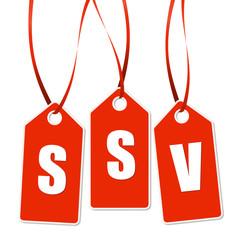 3 rote Anhänger mit SSV