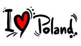 Fototapety Poland love