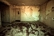 canvas print picture - Frightening room in abandoned home with peeling paint