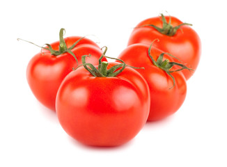 Four ripe red tomato