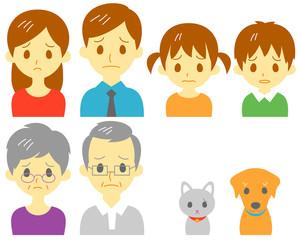 家族 二世帯 ペット 困り顔