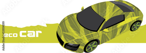 Eco car. Icon for design
