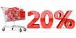20% Einkaufswagen