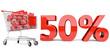 50% Einkaufswagen
