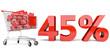 45% Einkaufswagen