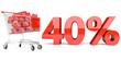 40% Einkaufswagen