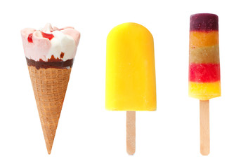 Icecream and popsicles