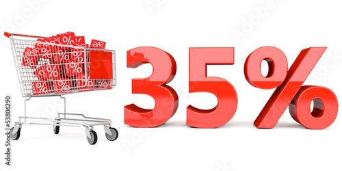 35% Einkaufswagen