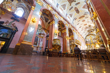 Interiors of Jasna Gora monastery in Czestochowa city, Poland