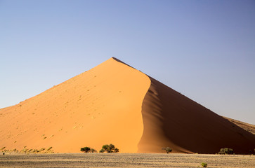 Huge red desert dune