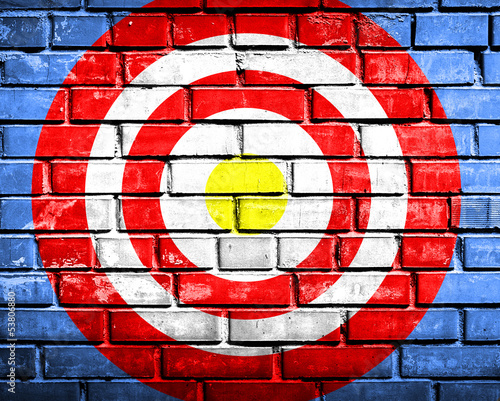 target on brickwall background - 53806880