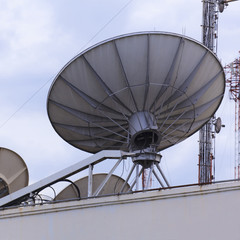 Satellite dish space technology receiver