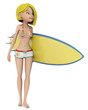 blond surf girl