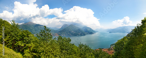 Beautiful Como lake panorama