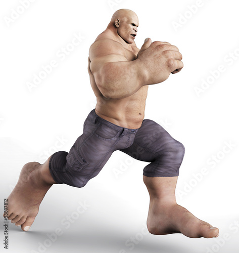 mr muscle running side view