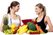 Health experts. Fresh fruits and vegetables