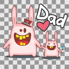 Dad Rabbit - Pai Coelho