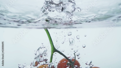 Tomato and splash water