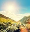 sunny mountain pass