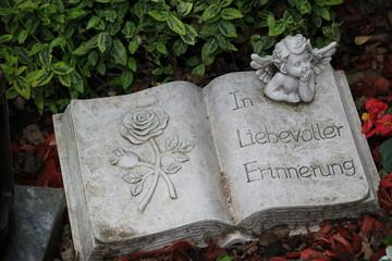 Trauer - Gedenkbuch mit Spruch und Engel