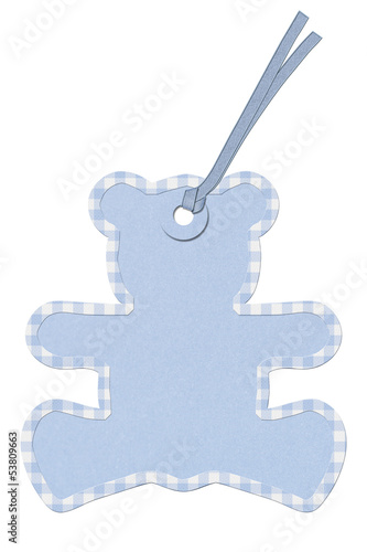 Teddy-bear Baby Shower Gift Tag