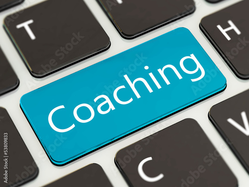 keyboard with the word Coaching