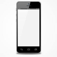 Smartphone with white screen